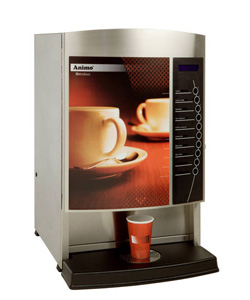 4163195-Hot drink dispenser Metos Optivend 4 230V 1~
