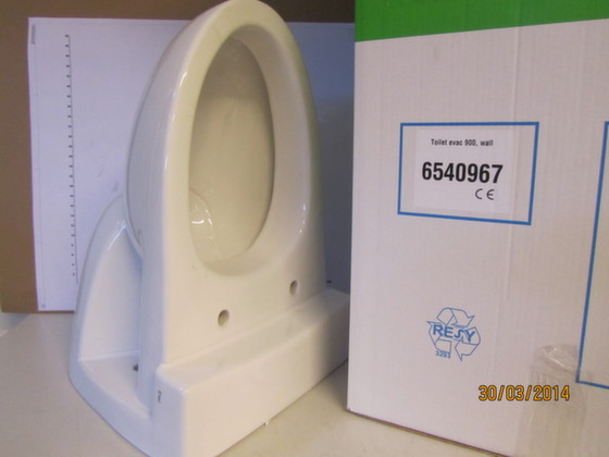6540967-TOILET BOWL, EVAC 900 W/FLUSHING RING