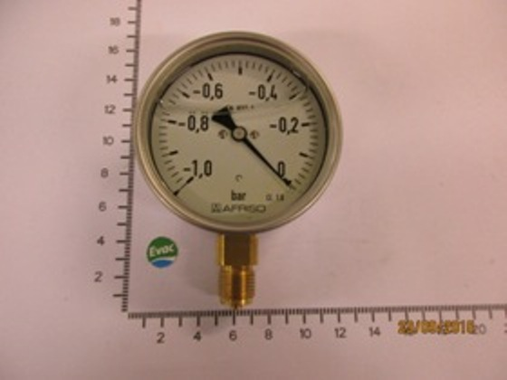 6540153-VACUUM GAUGE GLYCOL FILLED -1...0 BAR,D=100