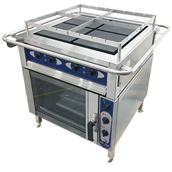 3751998-Range with convection oven Metos Futura RP4/240 400V50Hz marine