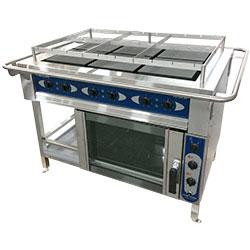 3752011-Range+conv. oven Metos Futura RP6/240 - 440/3PE/60 Marine